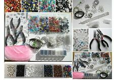 Huge Starter Jewellery Making Kit, Tools, Glass Beads, Findings and Instructions