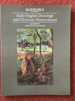 Sotheby's Catalogue Early English Drawings & Watercolours 25 January 1989