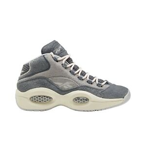 Reebok Mens The Question Mid Shoes FW0875 Allen Iverson Grey Suede New Authentic