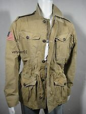 NWT Polo RALPH LAUREN Military/Combat/Field Cotton Twill Jacket Khaki size XL