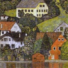 "Gustav Klimt, ""Houses in Unterach on Lake Attersee"",  giclee open edition print"
