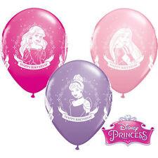 "NEW 5 Disney Princess Happy Birthday 11"" Qualatex Latex Balloons"
