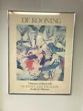 Willem De Kooning 1976 Seattle Art Museum Signed Poster