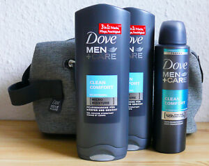 Dove Hommes + Soin 2xPflegedusche 2x250ml+Anti-Transp.150ml Avec Trousses de