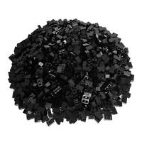 250 schwarze Lego Steine 1x2 - Bausteine Hochsteine Bricks - 3004