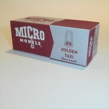 Micro Models GB 17 Holden Taxi New Look empty Reproduction box