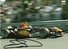 David Coulthard Star Wars F1 Red Bull 2005 Monaco Grand Prix signed photo