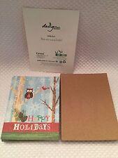 MOHAWK WINDPOWER GO GREEN OWL HAPPY HOLIDAYS CARDS NEW 16 NATURALLY Beauty