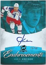 2012-13 Upper Deck The Cup Chris Kreider Enshrinements Autograph 20/50 Jersey #