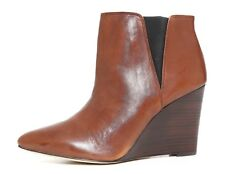 Louise Et Cie Wikket Leather Wedge Bootie Brown Women Sz 10 B 0197