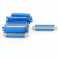 10Pcs 37 Pin D-SUB DB37 Female IDC Flat Ribbon Cable Connector Adapter Blue