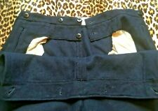 Rare 1940s Sailor Pants~Dated 1949~Naval French Armed Forces~Navy Blue Wool~W:36