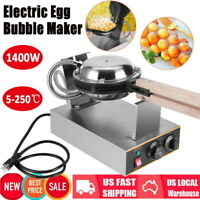 Electric Bubble Egg Cake Maker Oven Waffle Bread Pan Kitchen Cooking Machine USA