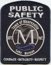 MOORESVILLE NORTH CAROLINA NC Courage Integrity PUBLIC SAFETY police PATCH