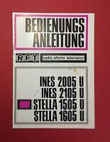 RFT Bedienungsanleitung VEB Fernsehgerätewerke Stassfurt 1970 INES 2005 ( F12948