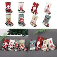 Christmas Stocking Large Sock Santa Claus Candy Bag Xmas Tree Hanging Gift  Top