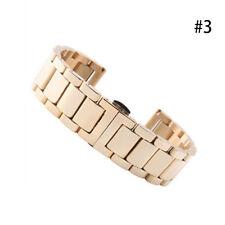 18/20/22/24MM 5 Farben Edelstahl Solid Uhren Armband Watch Band Strap NEU