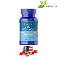 Zinc For Acne Multivitamin Supplment Pills Clear Skin Zits Pimples 50mg 100 Tabs