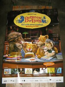 2000 ~ PBS ~ Between The Lions ~ Poster ~ New