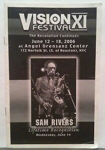 Sam Rivers Lifetime Recognition Program Vision Festival 6/14/06 $.99 No Reserve!
