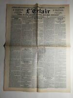N433 La Une Du Journal L'éclair 3 mai 1900 les bureaux de la marine