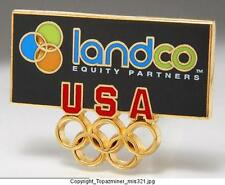 OLYMPIC PINS INTERNAL COUNTRY NOC USA LANDCO SPONSOR