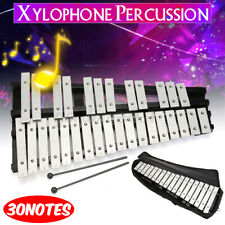 More details for professional 30 note glockenspiel xylophone percussion metal keys + carry bag