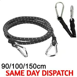 60/90/150cm CARABINER HOOK STRONG STRETCHED BUNGEE CORD STRAP CAR ROOF LUGGAGE