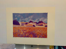 George Conkland FLOWER FIELD print poster 28X22 Never framed!
