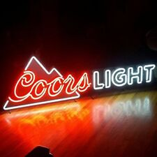 """New Coors Light Mountain Beer Bar Pub Lamp Neon Sign 24""""x20"""""""