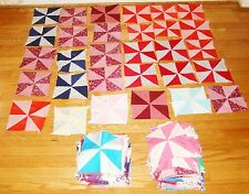 Vintage Lot of 300 +- Quilt Patch Square Blocks Prints - Pinwheel Pattern Fabric