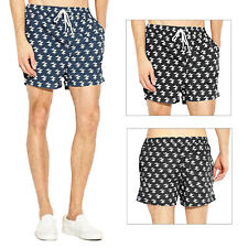 Brave Soul Mens Presley Swim Shorts Mesh Lined Patterned Board Swimming Trunks