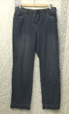 J. Jill Womens Cropped Blue Jeans Size 8 100% Cotton Draw String
