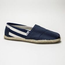 Zapatos planos de mujer mocasines color principal azul de lona