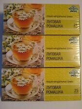Herbal   tea meadow daisy  3 Boxes x25 pcs   (with 75 Bags)