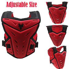 ATV Dirt Bike Motocross Motorcycle Body Armor Vest Chest Red Protector Guard Red