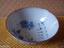 Ancien bol sur talon porcelaine Chine.Idéogrammes. XVIII/XIXème Chinese bowl..A.