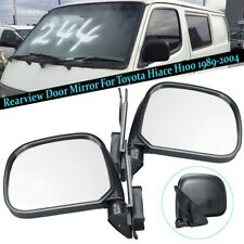 Pair Manual Rearview Door Mirror For Toyota Hiace H100 1989-2004 Front
