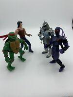 TMNT Ninja Turtles Lot Of 4 Casey Jones Foot Soldier Raph Shredder 2003 Figures