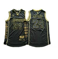 BRAND NEW Lakers  24# Kobe Bryant Los Angeles Lakers BLACK Jersey Stitched
