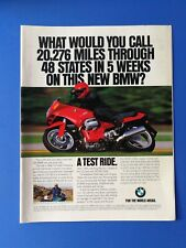 Vintage 1993 BMW R 1100 RS Motorcycle - Full Page Original Color Ad