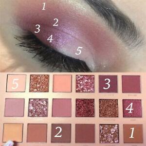 18 Colors Huda Beauty Desert Palette Shadows Eye Shadows With Sets Eye Dusk~