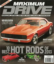 MAXIMUM DRIVE 2013 SUMMER - PREMIERE ISSUE - 10 BEST HOT RODS OF '13, AMX