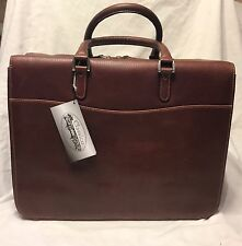 New Soft Lawyers BriefCase BriefBag Brandy Classico Leather  Retails @ $375