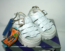 NEW SKETCHERS USA Baby Girls White Sun Jammers Sandals Genuine Leather Size 3