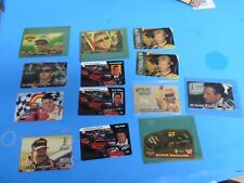 THIRTEEN NASCAR DRIVERS PHONE CARDS, ALL NEW NEVER USED, FROM THE 1990'S