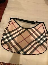 BURBERRY BLACK/BEIGE NOVA CHECK BARTON HOBO BAG