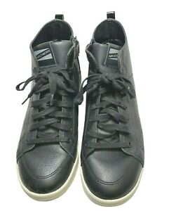 Skechers Mens Shoes Black Leather Hi Top Air Cooled Memory Foam US 10 UK 7 EU 40