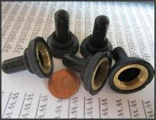 Protective cap for toggle switch 10 mm dia. with black silicone cap 5 Stück