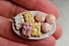 Dollhouse Opening Imperial Rhinestone Jeweled Easter Egg White 1:12 Miniatures